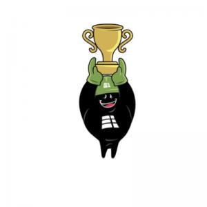 mascote Emam Asfaltos Troféu
